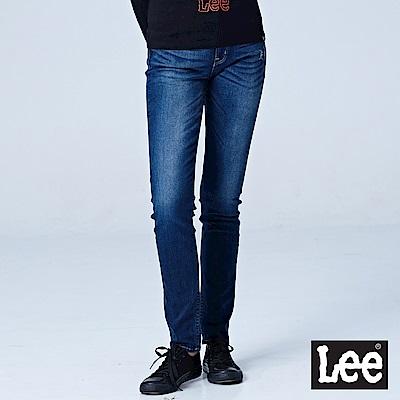 Lee 中腰合身窄管牛仔褲/RG-水洗藍