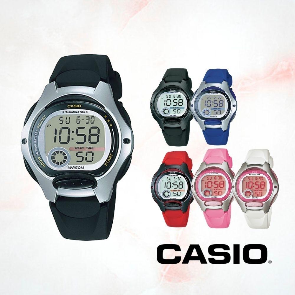 CASIO卡西歐 繽紛多色兒童電子錶(LW-200)