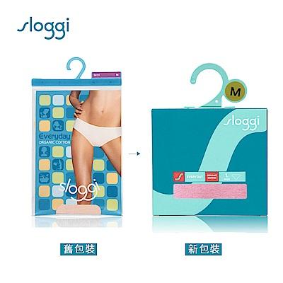 sloggi Everyday 有機過生活系列中腰三角褲 薔薇粉 74-4061 R5