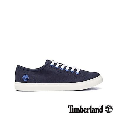 Timberland 女款海軍藍帆布休閒鞋|A1YRB