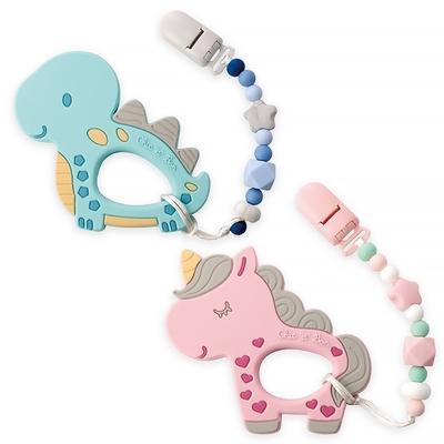 奇哥 童趣可愛矽膠固齒器/奶嘴鍊組 (2款選擇)