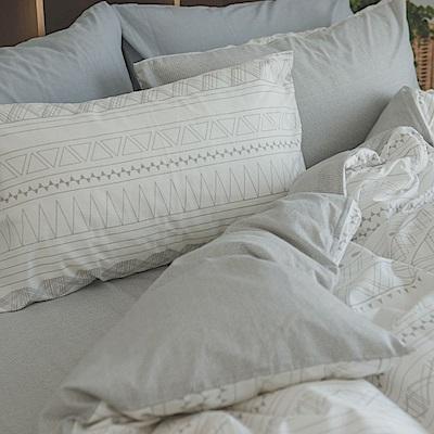 翔仔居家 台灣製 100% 精梳純棉床包&枕套 2件組- 單人 (懷特小姐)