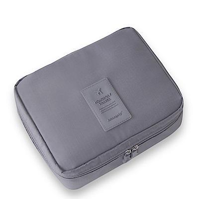 旅遊首選 多隔層防潑水 盥洗包 化妝包 收納包 旅行包 隨身包 洗漱包(灰色)