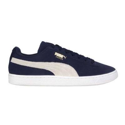 PUMA SUEDE CLASSIC + 男運動休閒鞋-經典 慢跑 滑板鞋 麂皮 35656851 丈青米白