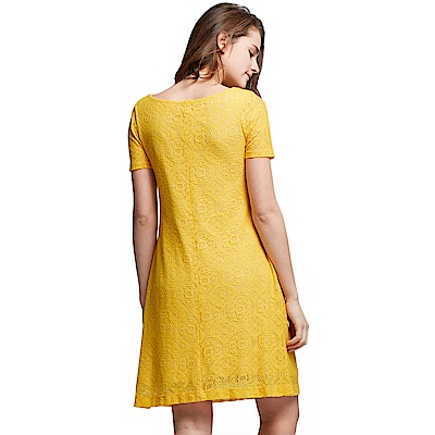孕婦裝 哺乳衣 浪漫全蕾絲圖形洋裝(共二色) Mamaway