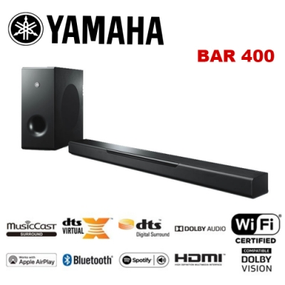 YAMAHA 山葉 MusicCast BAR 400 環繞劇院系統 公貨 YAS-408