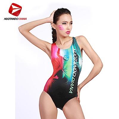 義大利DIANA 時尚連身泳裝 粉綠色 N110012