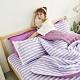 Adorar 平單式針織親水涼感墊+涼枕墊二件組-單人(紫) product thumbnail 1