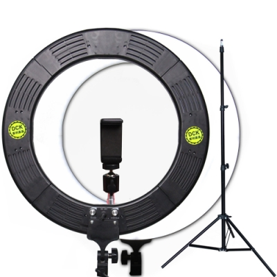 YADATEK 14吋可調色溫可調光超薄LED環形攝影燈(YR-600A)送160cm燈架