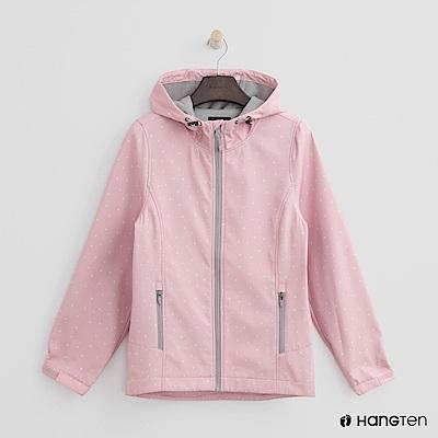 Hang Ten-女裝-ThermoContro 恆溫多功能系列-內刷毛連帽風衣外-粉
