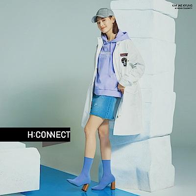 H:CONNECT 韓國品牌 女裝-缺口特色牛仔裙-藍