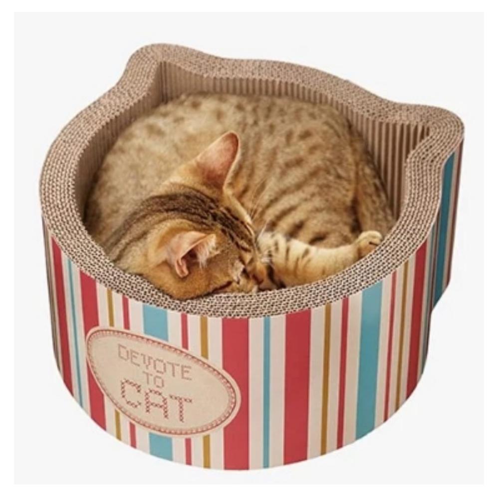 Gari Gari 貓頭造型條紋貓抓板