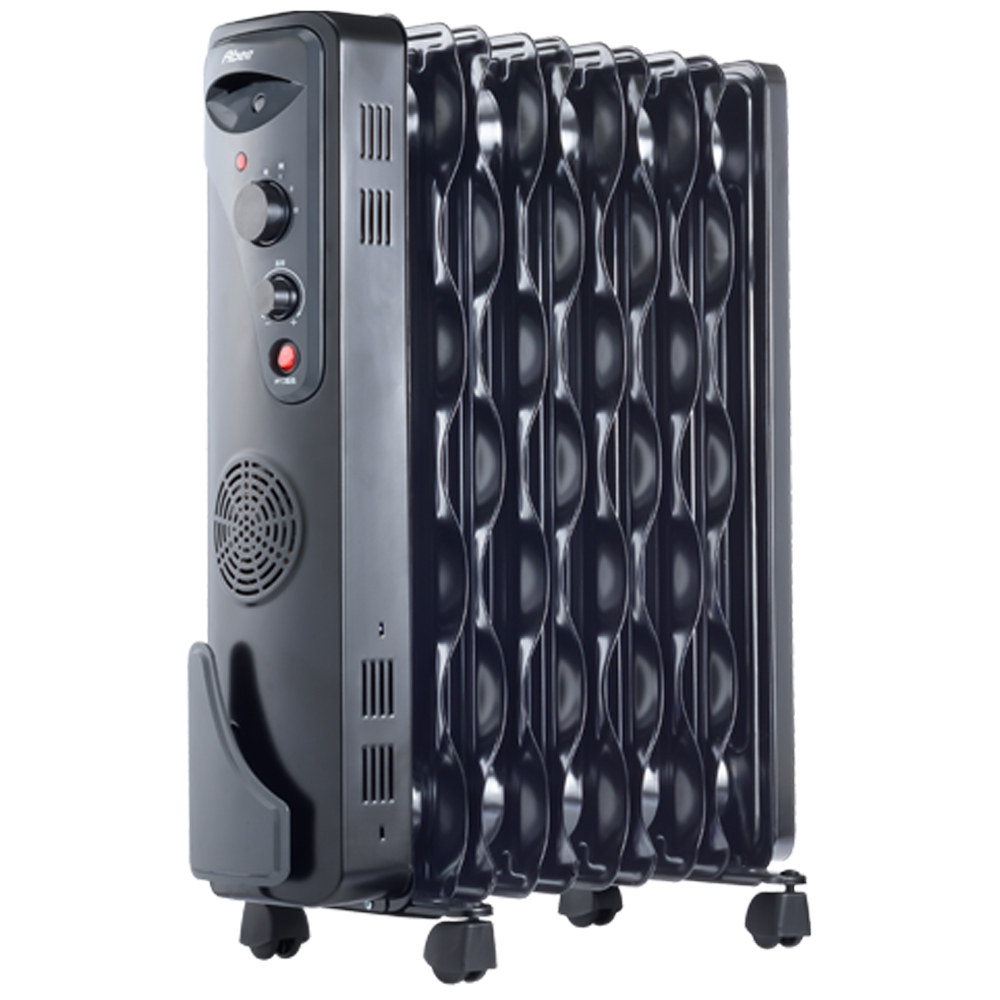 Abee快譯通10片扇葉波浪型恆溫電暖器 POL-1002