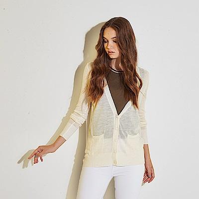 Hana+花木馬 無印簡約系麻料✕天絲長袖針織必備外套-米白(共2色)