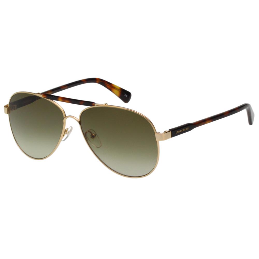 LONGCHAMP 飛官款 太陽眼鏡 (琥珀色+金色)LO109S