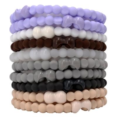 Pro Hair Tie 扣環髮圈10件組-莫蘭迪色-低彩灰系