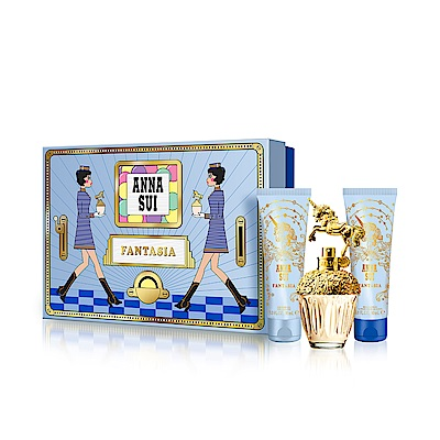 ANNA SUI 童話獨角獸寶物禮盒-淡香水50+身體乳90+沐浴乳90(附品牌紙袋)