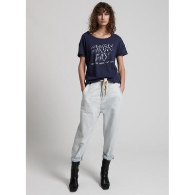 OneTeaspoon 短袖T恤 WORN NAVY BYRON-女(藍)