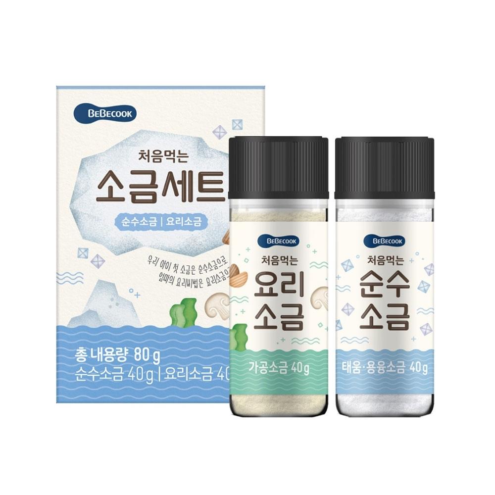 韓國 BEBECOOK 幼兒專用鹽巴2入套組-兒童食品-調味食品