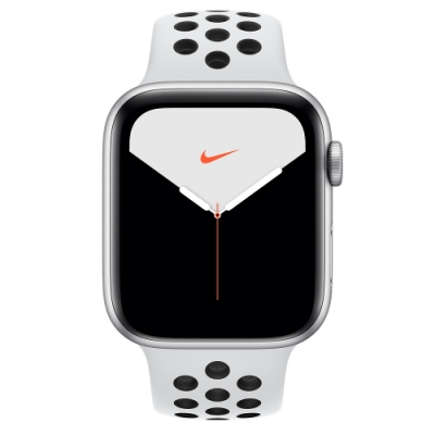 Apple Watch Nike S5(GPS+網路)44mm銀色鋁金屬錶殼+白色錶帶
