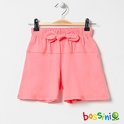 bossini女童-素色寬版短褲01粉橘