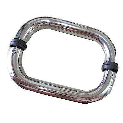 ID007 單彎把手 20cm 白鐵色 二折把手 玻璃門把手 不鏽鋼把手 白鐵把手 玻璃門