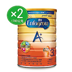 (2入組) 美強生 優兒A+幼兒成長奶粉 1700gx2罐