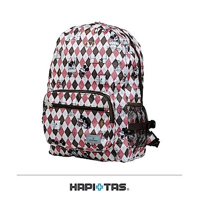 日本HAPI+TAS 摺疊後背包 迪士尼菱形咖啡
