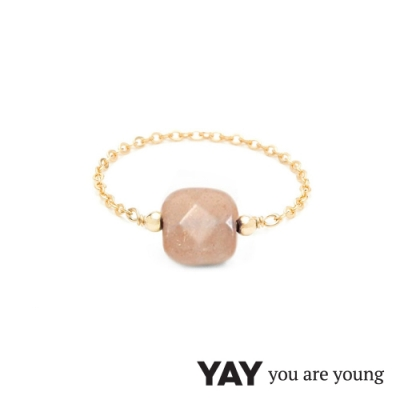 YAY You Are Young 法國品牌 Riviera 太陽石鍊戒 金色經典款