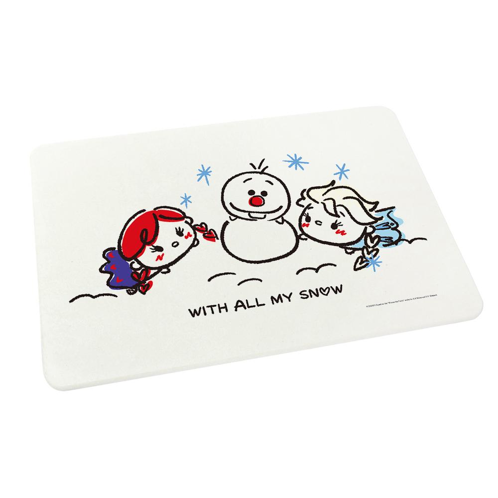 【收納皇后】Tsum Tsum超吸水珪藻土地墊-雪中玩耍