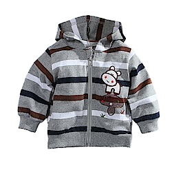 寶寶條紋連帽外套 k60739 魔法Baby