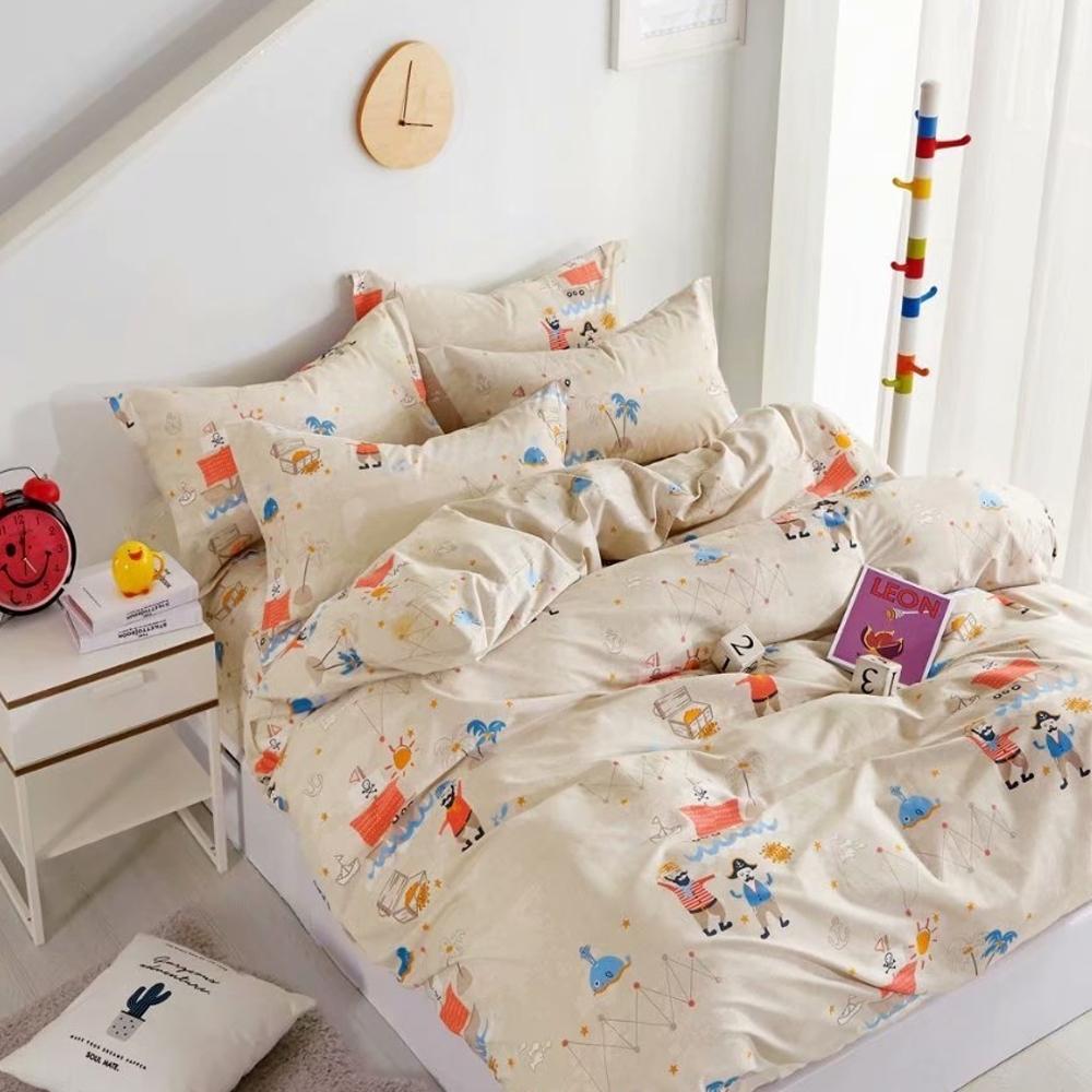 La Lune 台灣製40支精梳棉雙人床包被套四件組-多款任選