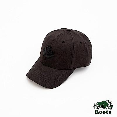 Roots-配件- 摩登楓葉棒球帽-黑