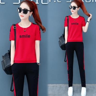 【韓國K.W.】(預購)線條造型運動套裝褲-3色