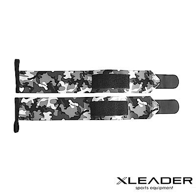 Leader X 重訓護腕彈性加壓繃帶 助力帶 迷彩灰 - 急