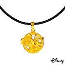 Disney迪士尼系列金飾 黃金墜子-最佳拍檔款 送項鍊