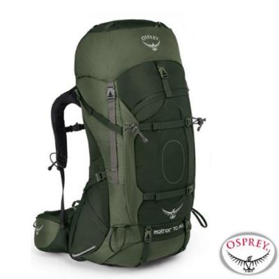 OSPREY 新款 Aether AG 70L 輕量透氣健行登山背包M_杜松綠 R