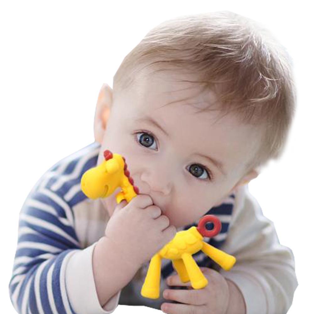 JoyNa 嬰兒純矽膠長頸鹿牙膠-2入