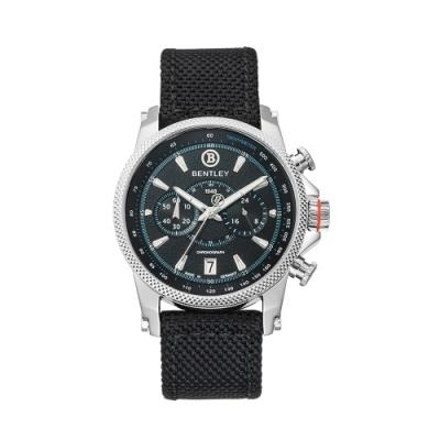 BENTLEY賓利 RACING系列 競速美學計時手錶-黑/43mm