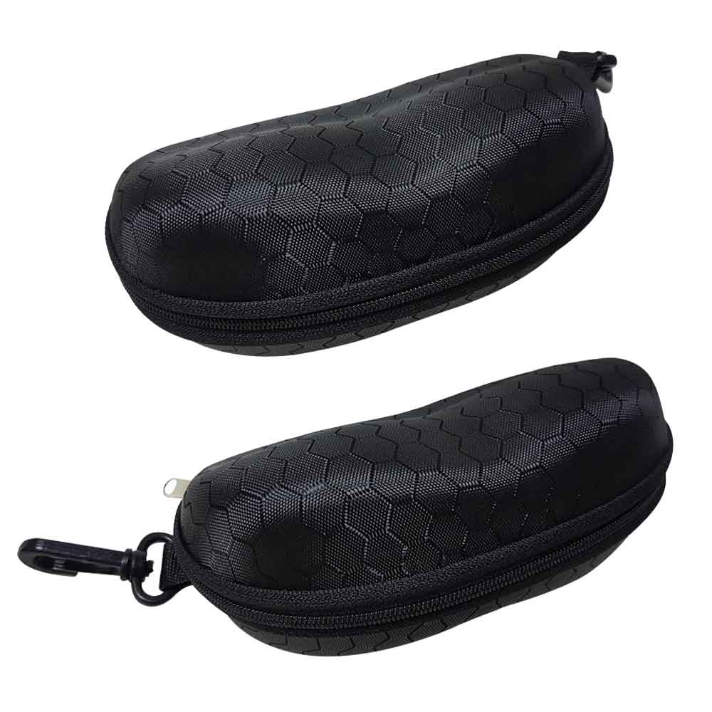 太陽眼鏡盒 墨鏡盒 格紋款眼鏡保護收納盒 硬殼收納包(附掛勾)
