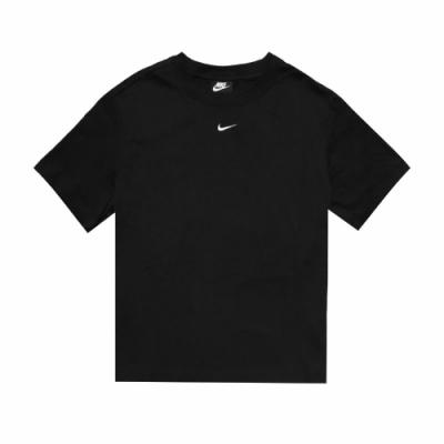 Nike T恤 NSW Essential Top 休閒 女款 圓領 棉質 基本款 短袖 穿搭 黑 白 CT2588010