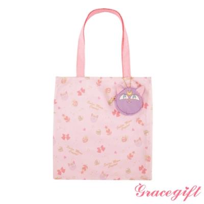 Grace gift-美戰滿版摺疊手提袋 米白