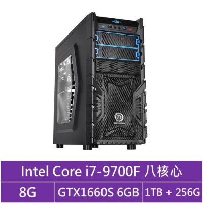 技嘉B365平台[冰刃軍神]i7八核GTX1660S獨顯電玩機