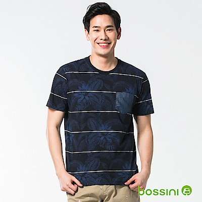 bossini男裝-圓領短袖T恤15海軍藍