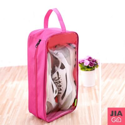 JIAGO 加大手提防水透明視窗旅行鞋袋