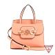 GUESS-女包-粉嫩純色飾扣肩背手提包-淺橘 原價2490 product thumbnail 1