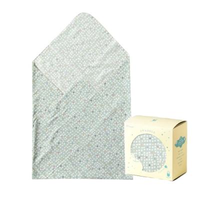 Hoppetta 多功能紗布巾-綠蘑菇(盒裝)