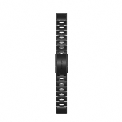 GARMIN QUICKFIT 22mm 石墨灰DLC鈦金錶帶