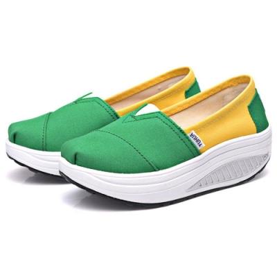 韓國KW美鞋館 馬卡龍綠黃配色健走鞋-綠
