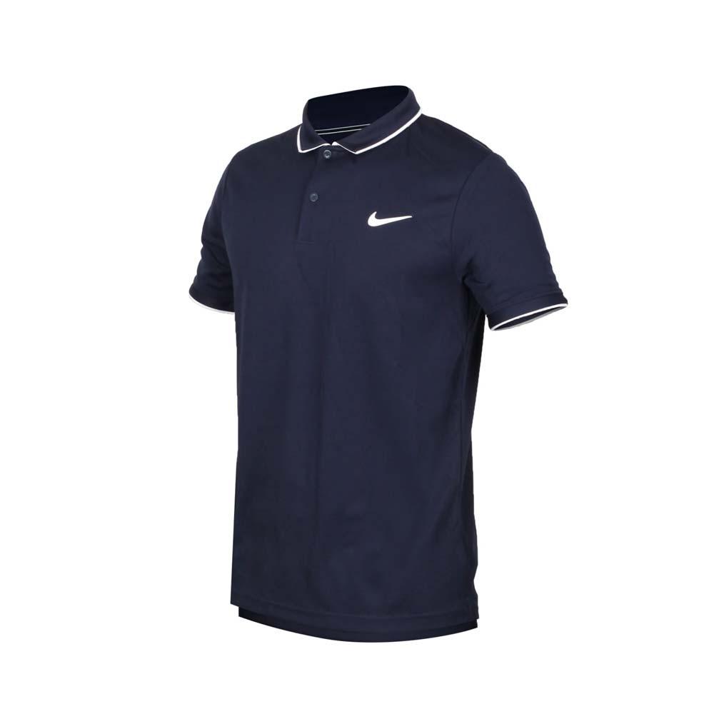 NIKE 男短袖POLO衫-短袖上衣 慢跑 路跑 網球 排汗 939138452 丈青白